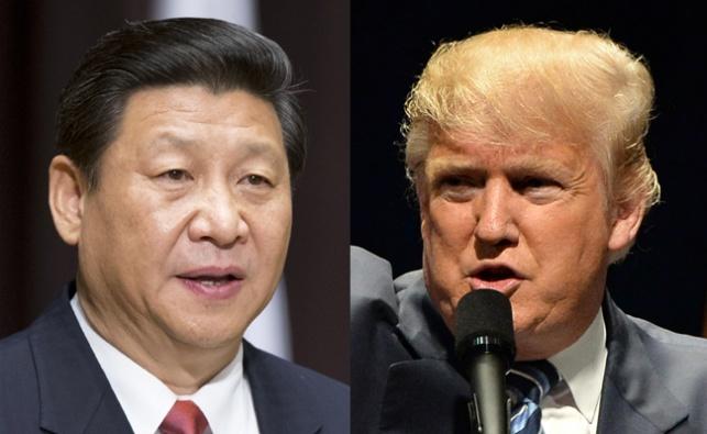 טראמפ לצד נשיא סין