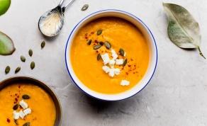 מרק ירקות כתומים מהביל בניחוח אסייתי - מרק ירקות כתומים מהביל בנוסח אסייתי