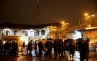המפגינים במגרש הרוסים הערב