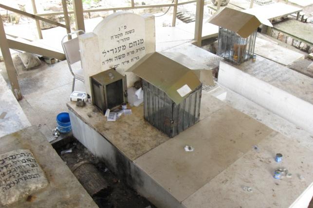 קברו של רבי מנחם מנדל מוִויטֵבְּסְק בטבריה