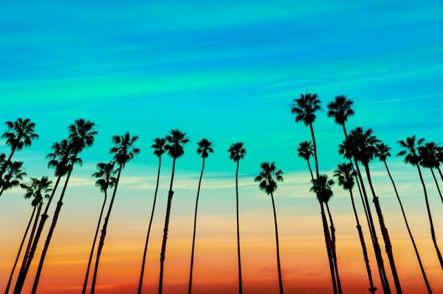 תביעת המזונות הוגשה בקליפורניה ותאכף בארץ? בתמונה: שקיעה בסנטה ברברה, קליפורניה