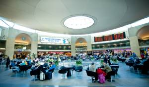 נמל התעופה בן גוריון, אולם ההמתנה לטיסות