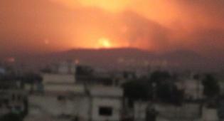 """בסיס צבאי של אסד הופצץ; גורם צבאי: """"טילי אויב נורו"""""""