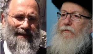 הרב דב פוברסקי - משמאל עם יעקב ליצמן