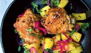עוף ותפוחי אדמה בסגנון הודי