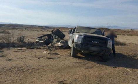זירת הפיצוץ - 7 חיילים נפצעו מהתפוצצות מוקש על רכבם
