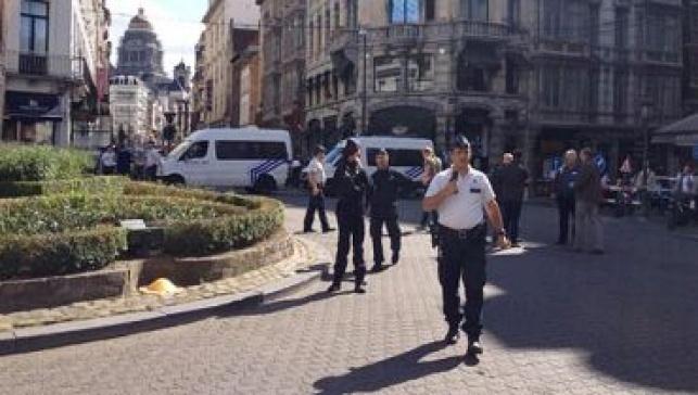 זירת הפיגוע בבריסל