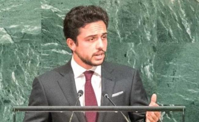 """נאומו של חוסיין הצעיר - הפתיע: יורש העצר בן ה-23 נאם באו""""ם. צפו"""