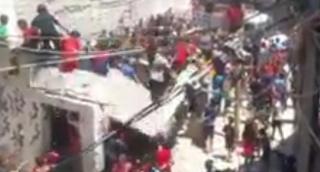 עזה: עשרות ילדים עמדו על הגג - וקרסו עמו