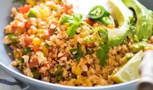 אורז כרובית עם ירקות בסגנון מקסיקני