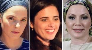 הרבנית יהודית יוסף, שרת המשפטים איילת שקד, הזמרת והיוצרת שרון רוטר -