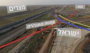 """תוואי המנהרה שהושמדה - צה""""ל: החמאס ינסה גם """"פיגועים מהאוויר"""""""
