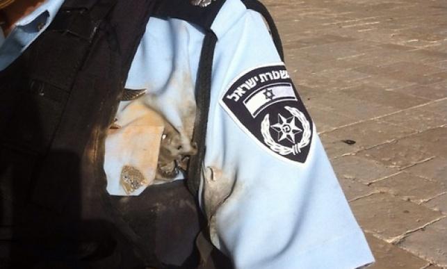 שוטר שנפצע במהומות היום