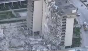 בניין קרס חלקית במיאמי: הרוג ו-8 פצועים