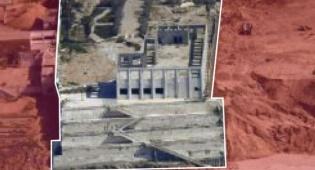 """אתר תת קרקעי ליצור אמל""""ח רקטי שהותקף"""