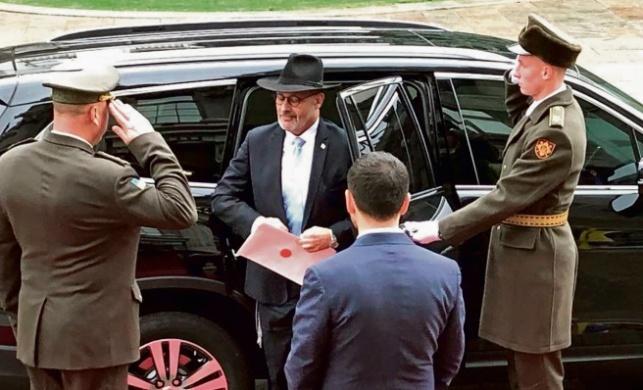ליון בהשבעתו לתפקיד השגריר