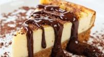 עוגת גבינה קלאסית עם ציפוי שוקולד מומס