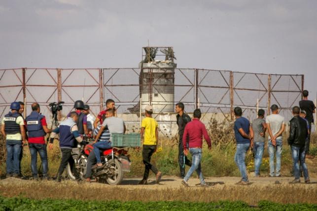 מפגינים ליד גבול ישראל, ארכיון
