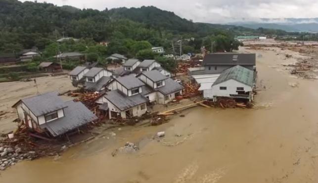 גשם ביפן: 18 נהרגו ומאות אלפים נמלטו