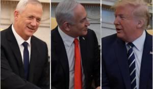 ריבונות  - והחזרת שטחים: טראמפ נפגש עם נתניהו ובני גנץ
