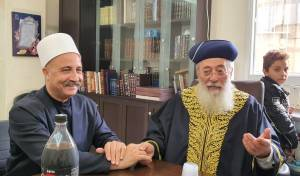 """השיח הערבי לראשל""""צ: """"היחיד בגישתו שיכול לפעול לקירוב לבבות"""""""