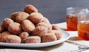 דונאטס סיידר תפוחים וקינמון קטנות ומתוקות