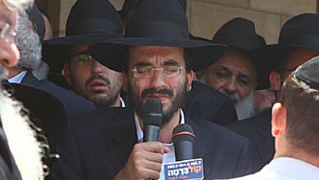 רבי פנחס בהלוויה (צילום: מאיר אלפסי, כיכר השבת)