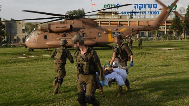 פינוי החיילים שנפצעו בתקרית הדגל