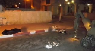 הרובוט המשטרתי מטפל בלבנות החבלה - נתפסו ברחוב עם שקית ובה... לבנות חבלה