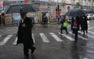 כיכר השבת גשום