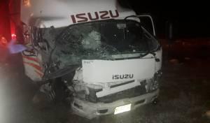 המשאית לאחר התאונה