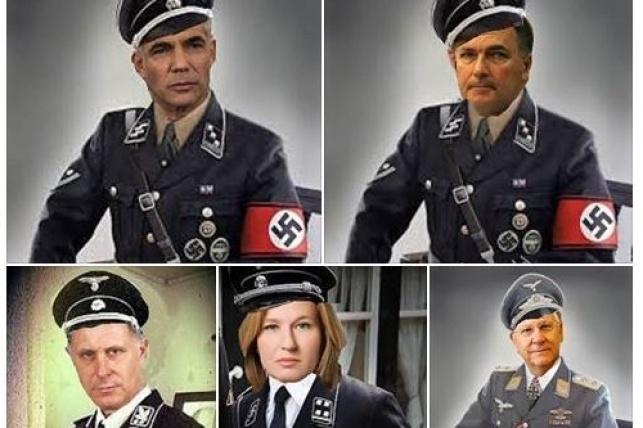 ריבלין, לפיד, לבני ודנינו במדי נאצים