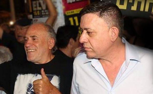 גבאי בהפגנה הערב