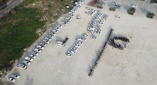 150 שוטרים, 60 ניידות ו-50 אופנועים • צפו