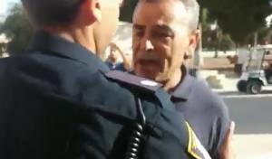 """צפו: ח""""כ  ג'מאל זחאלקה מתפרע בהר הבית"""