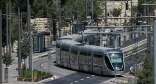 הרכבת הקלה. ארכיון - ירושלים: הרכבת הקלה פועלת באופן חלקי