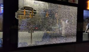 מחבלים השליכו בקבוקי תבערה על אוטובוס