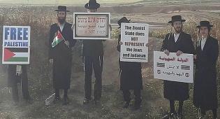 """פעילי 'נטורי קרתא' בהפגנה, היום - 'נטורי קרתא' הפגינו ליד הגדר: """"להסיר את המצור מעזה"""""""