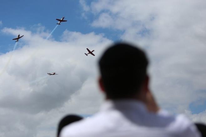 צפו בתיעוד: מטס חיל האוויר בשמי ירושלים
