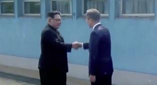 שני המנהיגים נפגשים לראשונה - פגישה היסטורית בין מנהיגי שתי הקוריאות