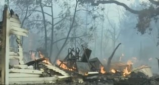 האש בקליפורניה - 40 הרוגים בשריפת הענק בקליפורניה