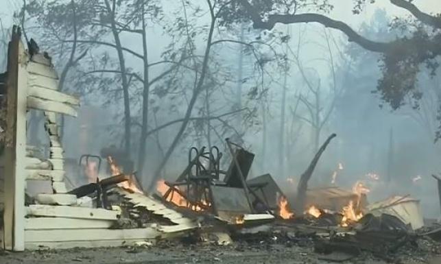 האש בקליפורניה