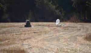 כך הרובוט המשטרתי טיפל בבלון התבערה