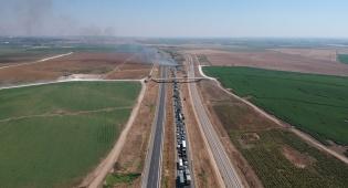 מדהים: כך נראה פקק בכביש 6 - מהאוויר