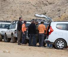 זירת החיפושים אחר הנער - נער נסחף בנחל ונהרג; עשרות ילדים חולצו מהשיטפונות