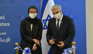 שגרירות ישראל נחנכה באבו-דאבי; יאיר לפיד הודה לנתניהו