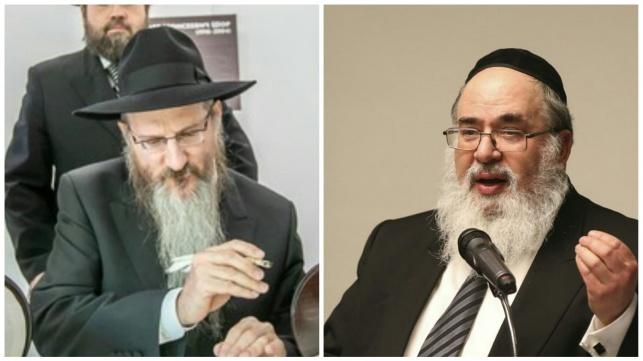 הרב ליכטשנטיין והרב לאזאר