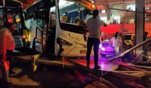 האוטובוס סמוך לתחנה
