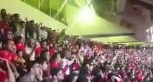 קריאות הגעגוע-מחאה באיצטדיון באיראן