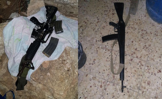 בכפר יטא נתפסו נשקים, סכינים ותחמושת